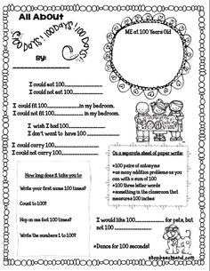 Worksheets 100 Days Of School Worksheets 1000 images about 100th day activities on pinterest worksheets beach sand show and tell tuesday of school