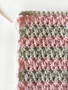 Watch This Video Beauteous Finished Make Crochet Look Like Knitting (the Waistcoat Stitch) Ideas. Amazing Make Crochet Look Like Knitting (the Waistcoat Stitch) Ideas. Unique Crochet, Easy Crochet, Free Crochet, Knit Crochet, Crochet Borders, Crochet Stitches Patterns, Knitting Patterns, Crochet Baby Blanket Free Pattern, Crochet Baby Blanket Beginner