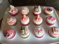 Hen Do Cupcakes Valentine Day Cupcakes, Fun Cupcakes, Wedding Cupcakes, Cupcake Cakes, Cupcake Ideas, Hen Party Cakes, Christening Cupcakes, Cupcake Queen, Wedding Anniversary Cakes