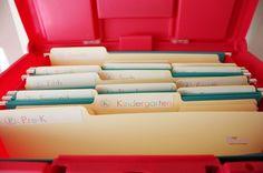 Organizing Kids School Papers