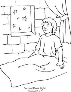 David Hides From Saul Coloring Page