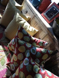 The best selection of the most unique pillows in town can be found at Emory Anne's Interiors on 33rd between Kelly & Santa Fe...