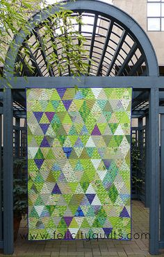 Triangle Garden and Arbour by felicity.quilts, via Flickr