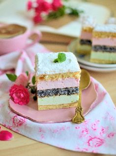 Foam sponge cake with poppy seed Polish Desserts, Polish Recipes, Cake Boss Recipes, Dessert Recipes, Fancy Cakes, Mini Cakes, Cake Recept, Poland Food, Birthday Cakes For Teens