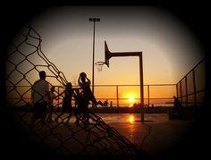 Playground style sunset