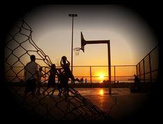 Playground style sunset