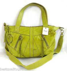 This bag has great structure with an awesome color. Dont care that the brand is fossil!