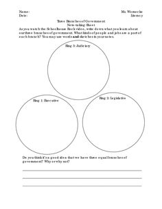 Three Branches of Government for Kids | Worksheets, Social studies ...