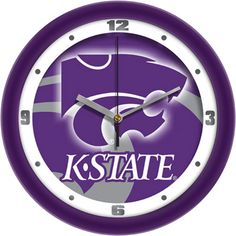 Kansas State Wildcats NCAA Dimension Wall Clock