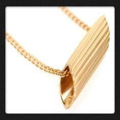 Miss Bibi Gold pasta necklace