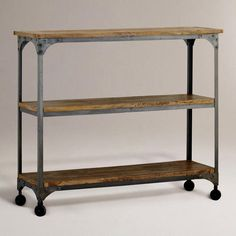 kitchen solution // One of my favorite discoveries at WorldMarket.com: Aiden 3-Shelf Console