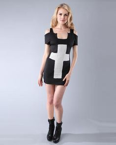 CROSS FITTED DRESS by DimePiece