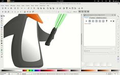 Inkscape timelapse : Jedi Tux for Giroll Collective by ephase. My  first Inscape timelapse : little Tux drawing for a LUG poster. First handraw made with Mypaint then with Inkscape and a Wacom tablet on Archlinux
