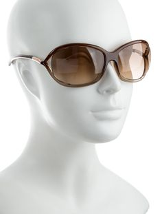 abb585fa915 Brown acetate Tom Ford Jennifer sunglasses with tinted lenses. Includes  case.tom-ford