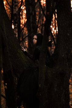 """Here is a new genre of photography: """"Goths up trees"""" ( http://gothsuptrees.net/ )"""