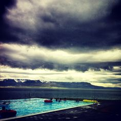 a realy cool swimmingpool be the see in Hofsós,Iceland