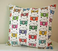 Campervan Holiday Cushion by Moonglow Art