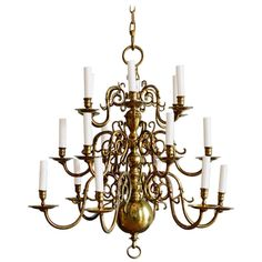 Dutch Style Chandelier | From a unique collection of antique and modern chandeliers and pendants  at https://www.1stdibs.com/furniture/lighting/chandeliers-pendant-lights/