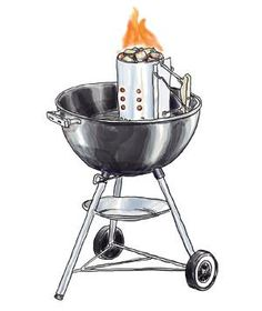 How to Use a Chimney Starter | Fire up your charcoal grill with these two easy steps.