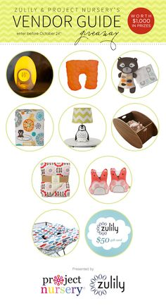 WIN IT! One Project Nursery reader will win ALL the items featured in our zulily & Project Nursery Vendor Guide giveaway (a $1,000 value)