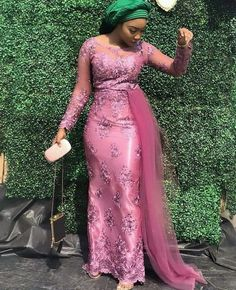 African lace styles - What to Wear to a Wedding 10 Outfit Ideas That Will Inspire You Nigerian Lace Styles Dress, Lace Gown Styles, Aso Ebi Lace Styles, African Lace Styles, African Wear Dresses, Latest African Fashion Dresses, Modern African Dresses, Latest Aso Ebi Styles, African Wedding Attire