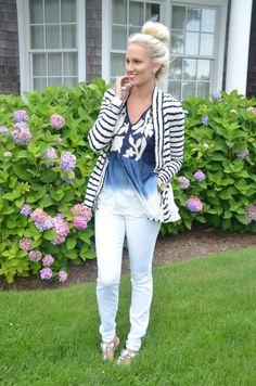 McKenna Bleu: Navy + White
