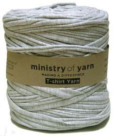 Light grey marl t-shirt yarn Australia recycled zpagetti