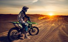 Kawasaki dirt bike wallpaper