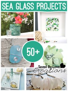 50+ Sea Glass Tutorials with Jewelry, home decor and more @savedbyloves * Tutorial on drilling sea glass*