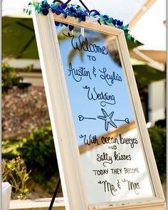 Rose Wedding, Wedding Day, Cabbage Roses, Beach Themes, Wedding Signs, Signage, Photograph, Weddings, Mirror