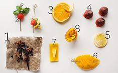 Gourmet Cocktail Garnishes | POPSUGAR Food. Perfect for Aviation American Gin cocktails.