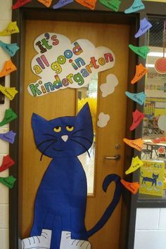 "My Pete the Cat Door : Could say ""It's all good in a book"" or ""in the library"""