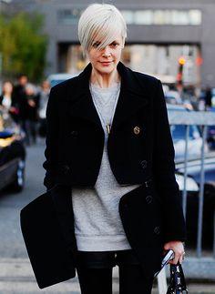 Split coat (!) on Kate Lanphear