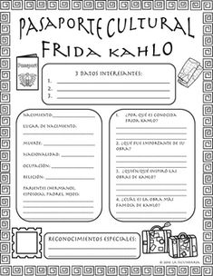 Pasaportes Culturales can be used as a weekly cultural research inside or outside of the classroom. This will give students the exposure to cultural aspects that aren't easily taught with grammar and vocabulary. The download includes an English version for beginners and a Spanish version for more advanced learners.