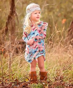 Look at this #zulilyfind! Turquoise Lace Floral Tunic - Infant, Toddler & Girls by Sew Chill #zulilyfinds