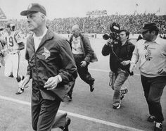 Image detail for -Minnesota coach Bud Grant runs from the field after the Vikings lost ...