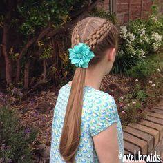 Dutch seven strands into a ponytail. . #braid #braids #cute #pretty #hair #hairstyle #hairstyles #hairgoals #hairposts #cghphotofeature #cutegirlshairstyles #featuremejehat #ib_featureme #ab_feature #tinkerfeature #yiyayellowfeature #braidsforlittlegirls #braidsforgirls #sweetheartshairdesign #instibraid #instahair #hairsryles_for_girls #hotbraidsmara #inspirationalbraids #beyondtheponytail #dutchbraid #ponytail #braidgoals #sevenstrandbraid #flower