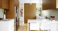 Contemporary Kitchen Interior, Small Modern Kitchens, Small House Interior Design, Modern Kitchen Interiors, Modern Kitchen Design, Interior Design Kitchen, Home Kitchens, Kitchen Designs, Kitchen Decor