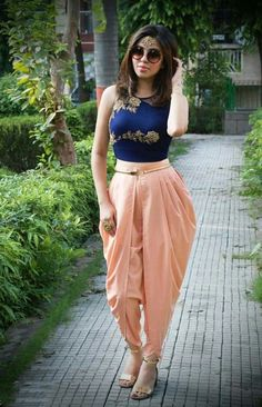Choli With Dhoti Pant