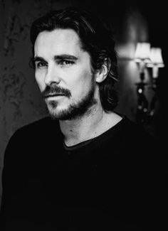 Christian Bale - first saw him in Batman Begins Hollywood, Beautiful Boys, Beautiful People, Looks Black, Batman Begins, British Actors, American Actors, Good Looking Men, Black White