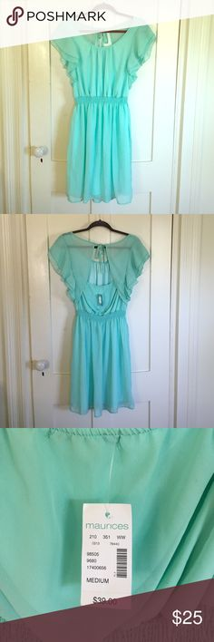 Maurice's Tiffany blue dress. New with Tags! This dress is a beautiful color and fits well on multiple body types. New with tags! Maurices Dresses Midi