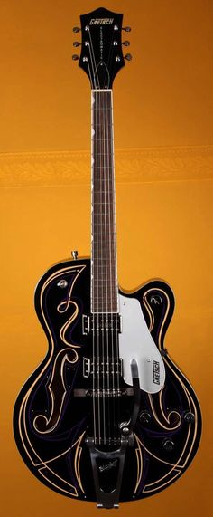 GRETSCH Limited Edition G5120T Custom Pinstripe Electric Guitar - Black #36 | Small White Mouse