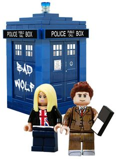 I MUST have this.... Doctor Who Legos!!!!!  Just look at that Tennant hair! :D