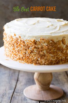 The Best Carrot Cake Recipe (& Easy to Make!) | ASpicyPerspective.com