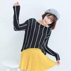 Stripe sweater Cotton Tops