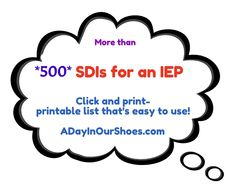 list of 500 accommodations or SDIs