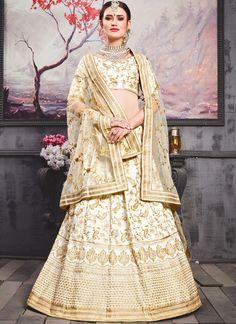 fc43698ff2 White Bridal Lehenga Choli Silk Lehenga, Bridal Lehenga Choli, Choli Dress,  Silk Dupatta