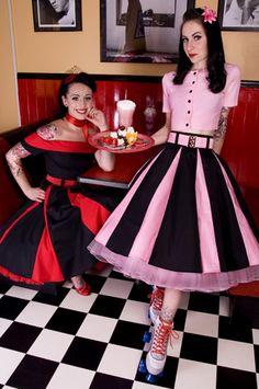 Rockabilly Looks, Rockabilly Outfits, Rockabilly Fashion, 1950s Fashion, Vintage Fashion, Rockabilly Girls, Rockabilly Clothing, Ankara Fashion, 1950 Pinup