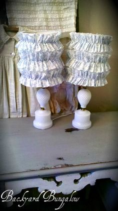 Ruffled lamp shades