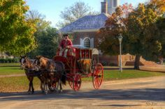 Carriage Ride Colonial Williamsburg Virginia | Karen Jorstad Photography